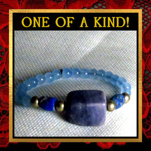 Blue Chalcedony Gemstone Bracelet #123